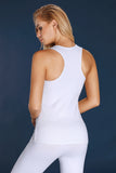 White U-shaped Neck Sport Vest Top