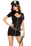 4pcs Police Hottie Costume