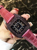Women's Watch Square dial leather strap elegant watch