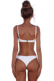 White Plain Two Piece Swimsuit