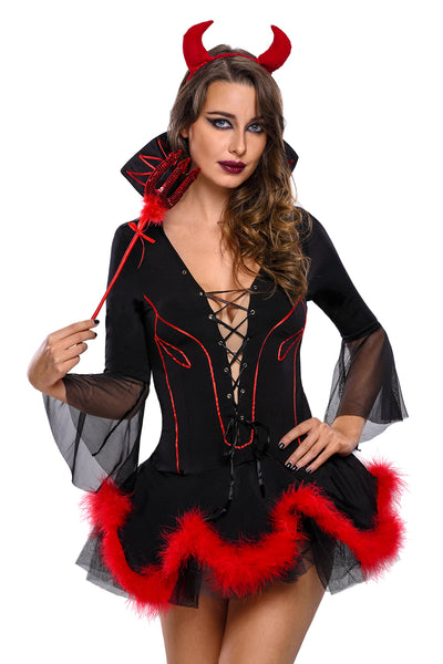 Plus Size Miss Iblis Devil Costume