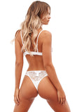 White Eyelash Lace 2pcs Lingerie Set
