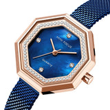 Fashion diamond inlaid Fritillaria Japanese movement waterproof women's Watch
