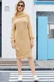 Heap Collar Mini Knit Dress