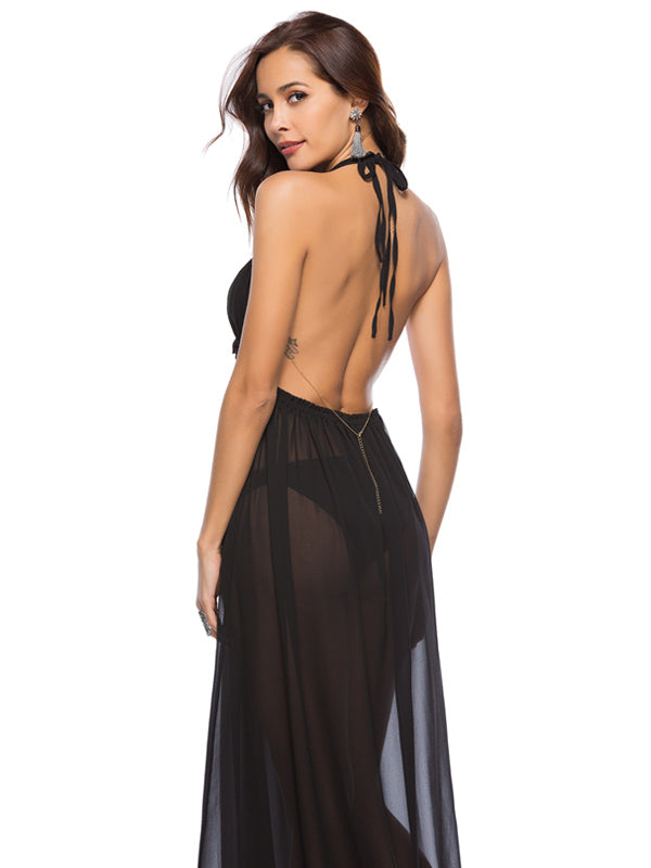 Halter Open Back Dress