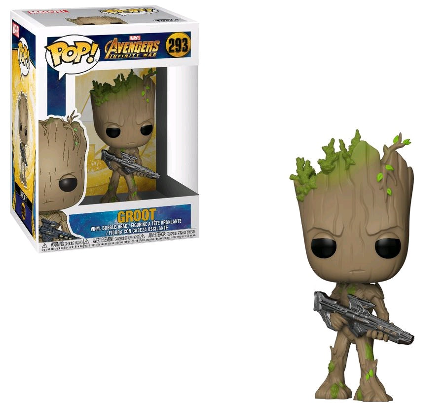 Avengers 3: Infinity War - Teen Groot with Gun Pop! Vinyl