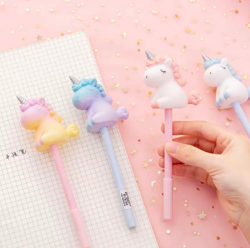 Pen with Baby Unicorn Topper