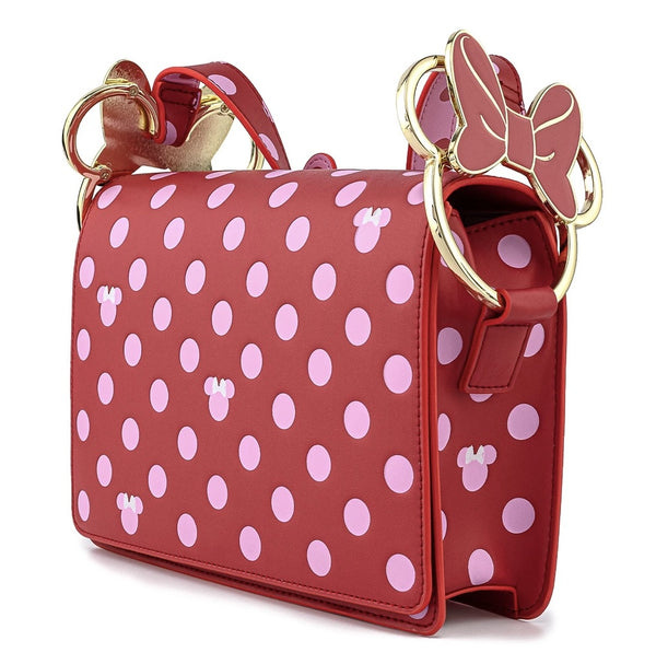 Mickey Mouse - Minnie Pink Polka Dot Crossbody Bag