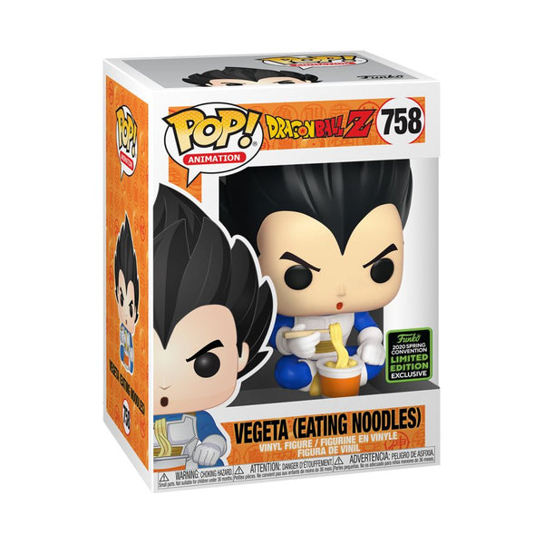 Dragon Ball Z - Vegeta Eating Noodles ECCC 2020 Exclusive Pop! Vinyl [RS]