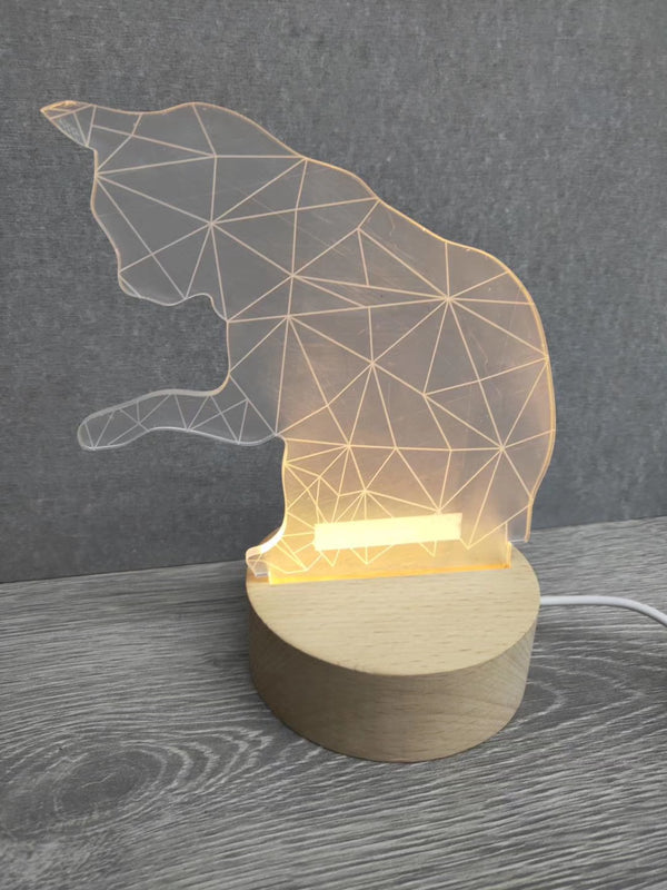 Cat Acrylic LED Lamp