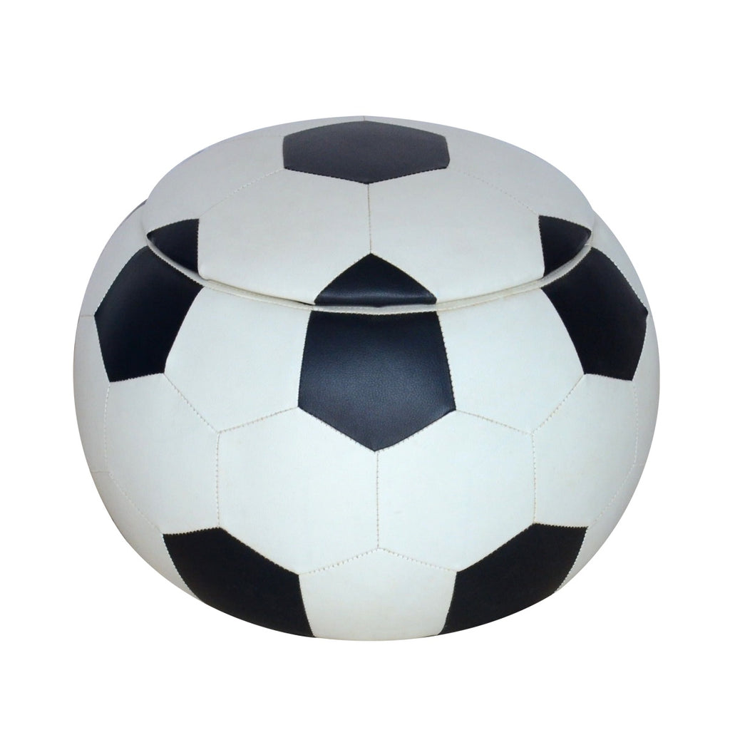 Soccer Ball Ottoman with Lid