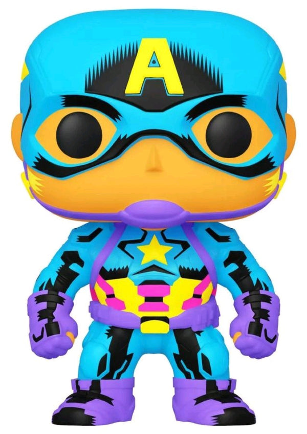 Captain America - Captain America Black Light US Exclusive Pop! Vinyl [RS]