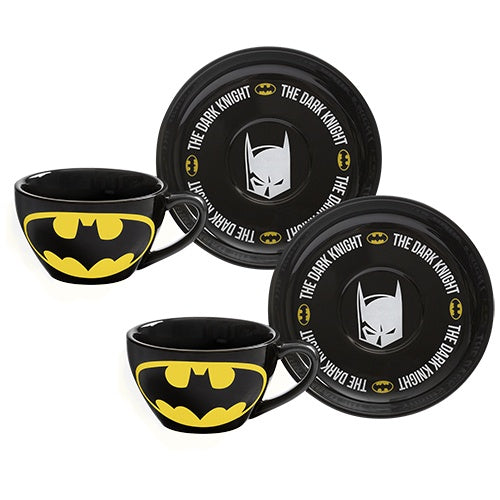 BATMAN SET OF 2 TEACUPS & SAUCERS