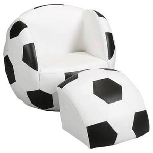 Kids Soccer Ball Chair with Ottoman (HLD/QY08)