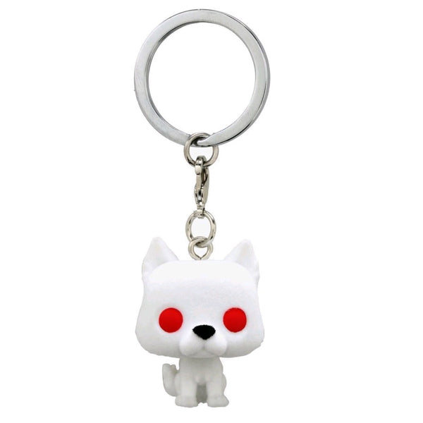 Game of Thrones - Ghost Flocked US Exclusive Pocket Pop! Keychain [RS]