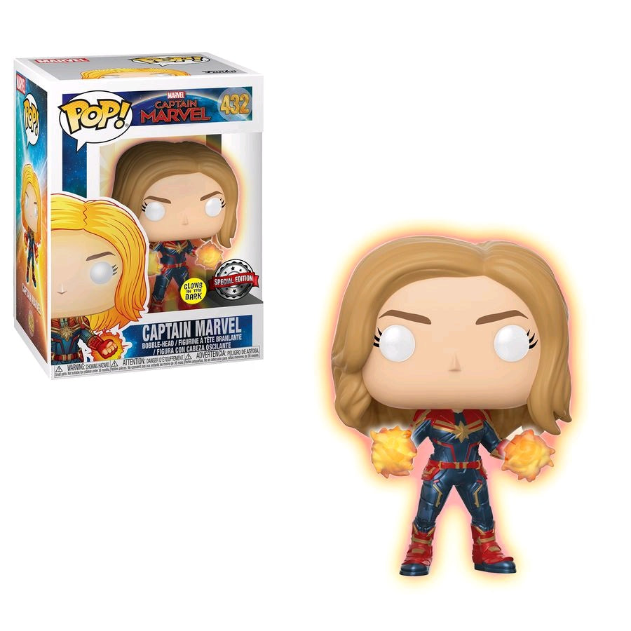 Captain Marvel - Captain Marvel Glow Hands US Exclusive Pop! Vinyl