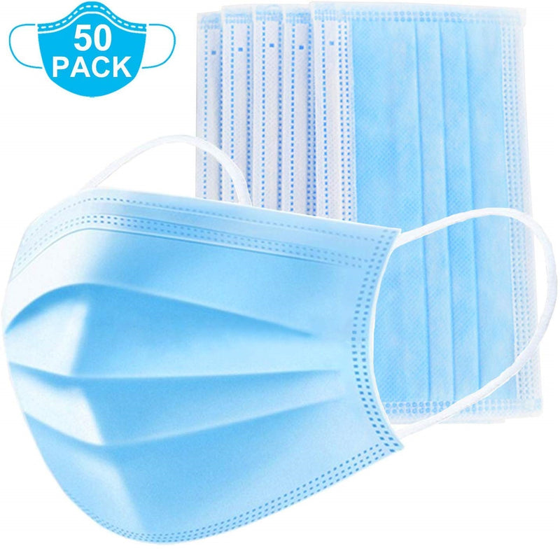 Disposable Protective Face Mask (Pack of 50)
