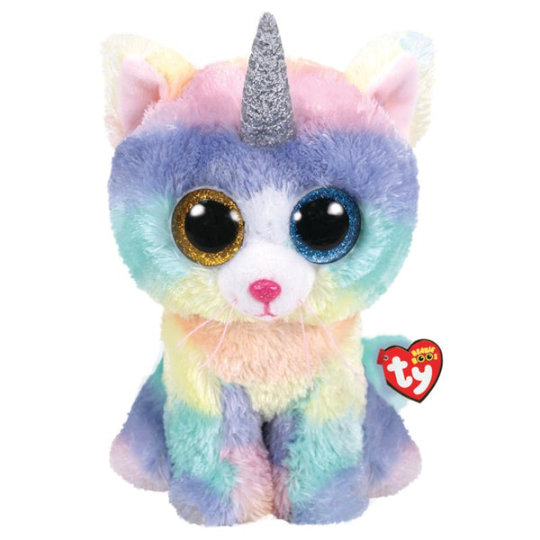 Beanie Boo Large Heather Cat W Horn