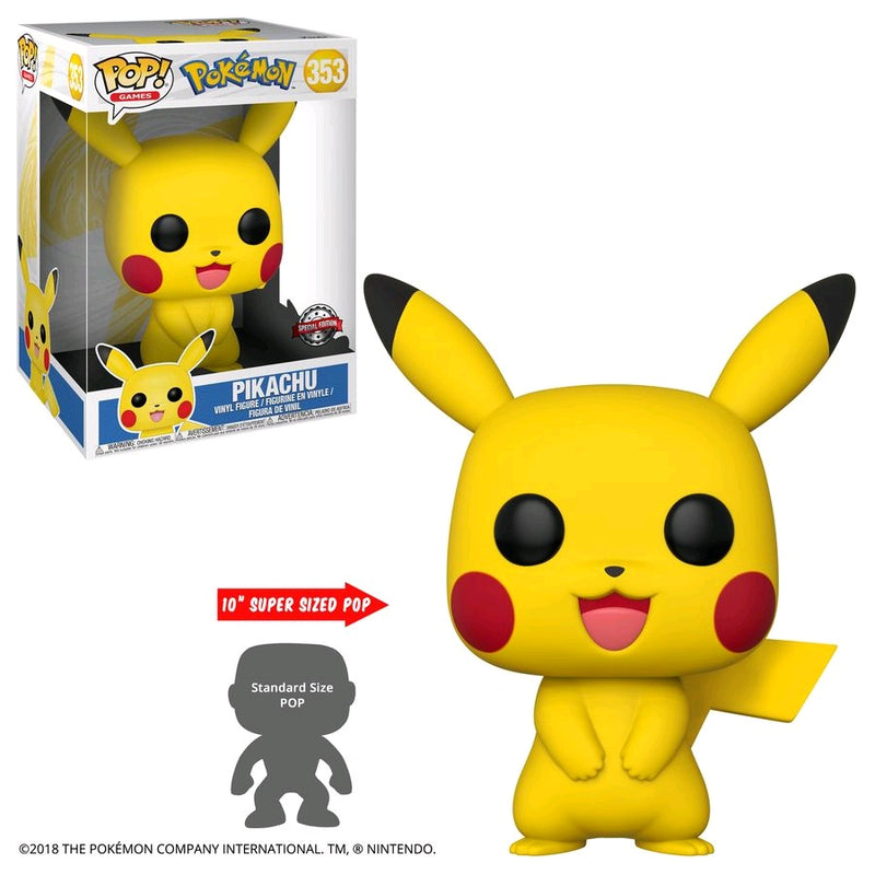 "Pokemon - Pikachu US Exclusive 10"" Pop! Vinyl [RS]"