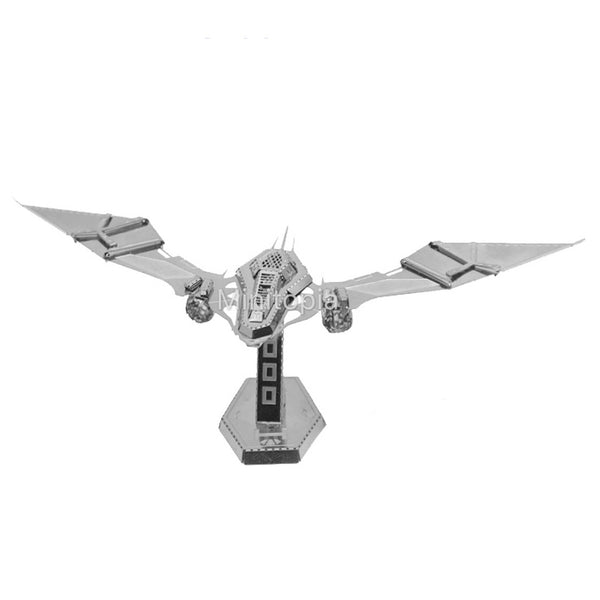 3D Metal Model - Bat Spaceship
