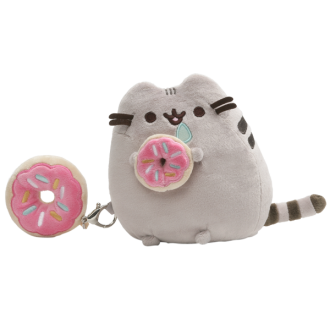 Pusheen with Donut Gift Set - Plush & Keychain
