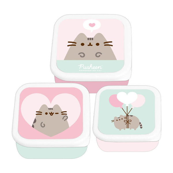 Simply Pusheen Storage Pots Set Of 3 (Lunch/Snack Box)