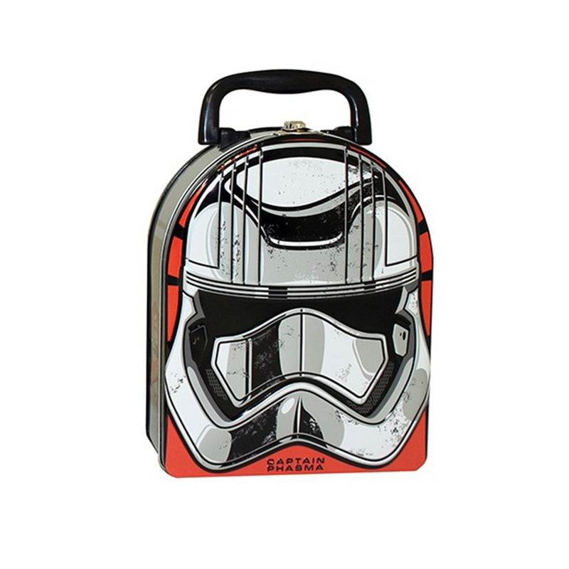 Star Wars Ep VII Captain Phasma Arch Shape Carry All Tin / Lunch Box