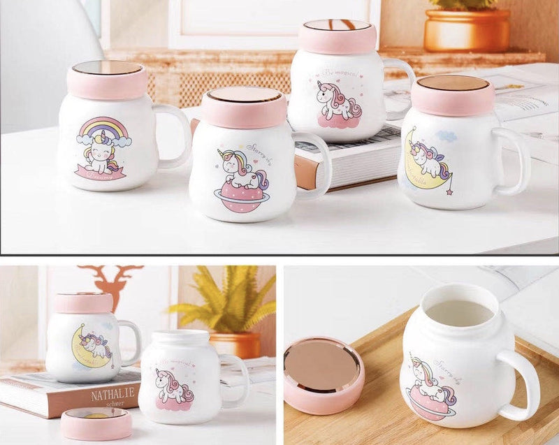 Chibi Unicorn Mug with lid