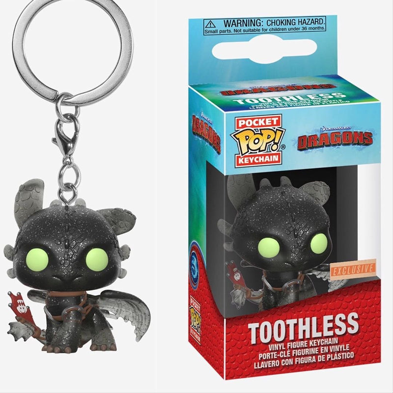 How to Train Your Dragon - Toothless US Exclusive Diamond Glitter Pocket Pop! Keychain [RS]