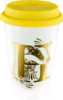 Harry Potter - Hufflepuff Foil Logo Keep Cup