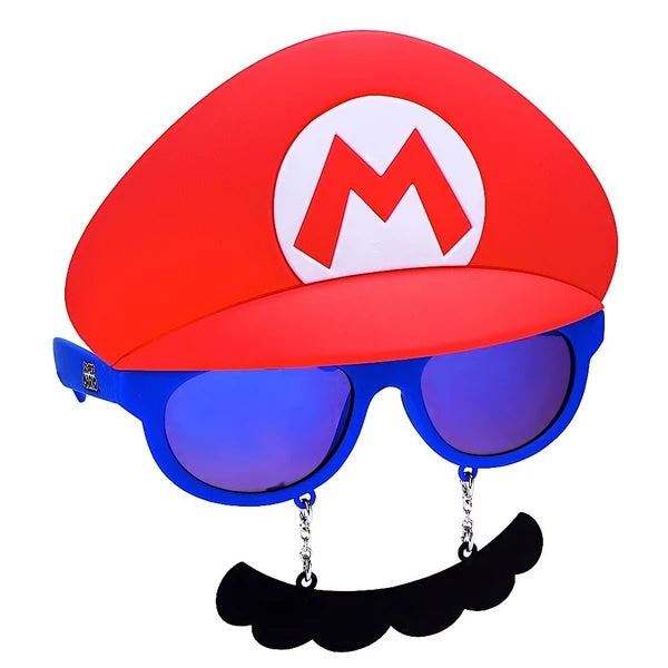 Big Characters Mario Mustache Sun-Staches