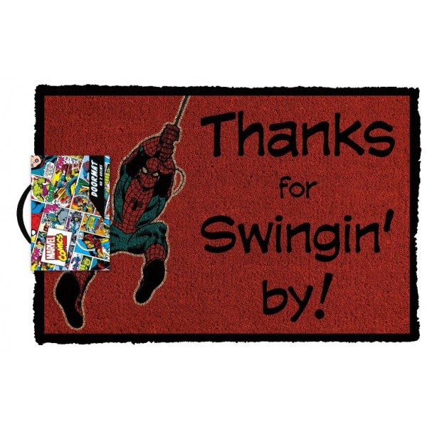 Marvel Comics - Spider-Man Swinging By Licensed Doormat