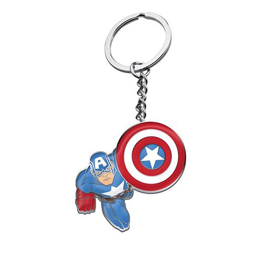 CAPTAIN AMERICA METAL KEY RING