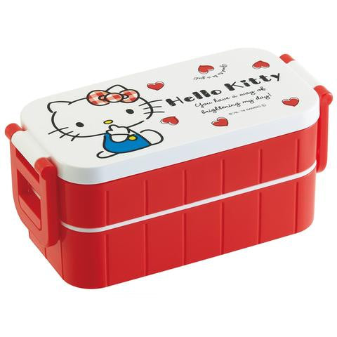 Hello Kitty Two Tier Side Lock Bento | Red Heart