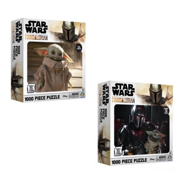 Star Wars: The Mandalorian or The Child 1000 Piece Puzzle Assorted