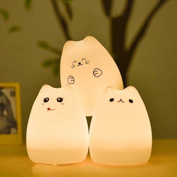 Cat Silicon LED Lamp