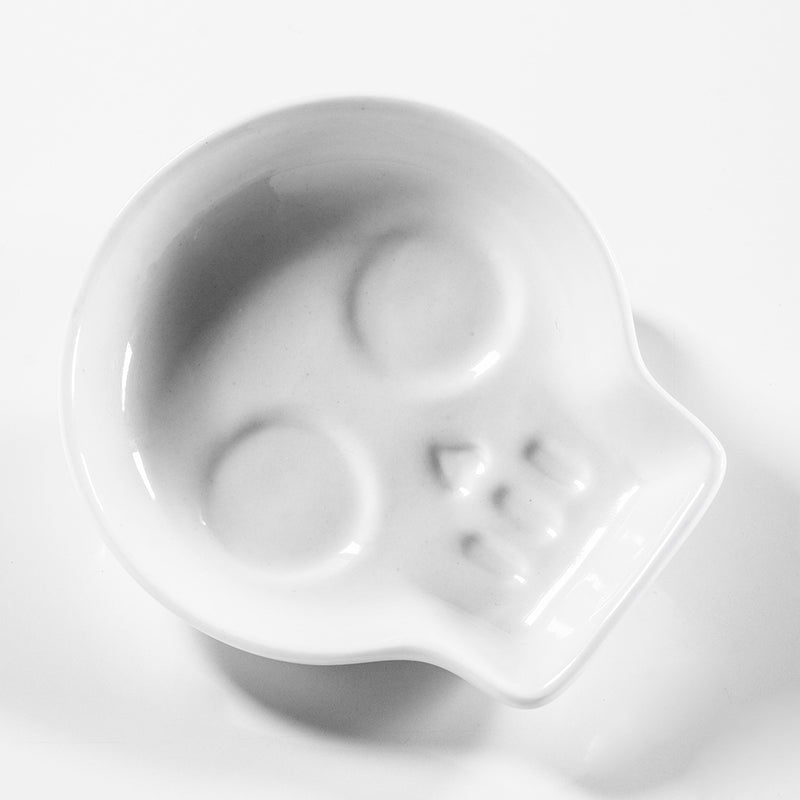 Skull Soy Dish With Chopsticks