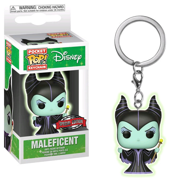 Sleeping Beauty - Maleficent Glow US Exclusive Pocket Pop! Keychain