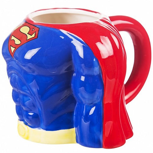 SUPERMAN CHEST MOULDED MUG