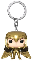 Wonder Woman: 1984 - Wonder Woman Gold Power Pose Pocket Pop! Keychain