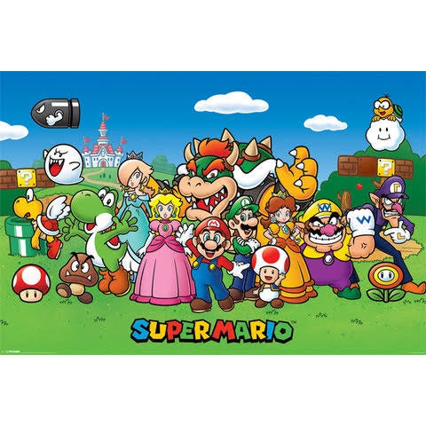 Super Mario - Poster - Characters