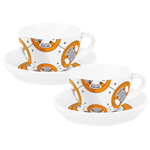 STAR WARS BB8 S/2 TEACUPS & SAUCERS