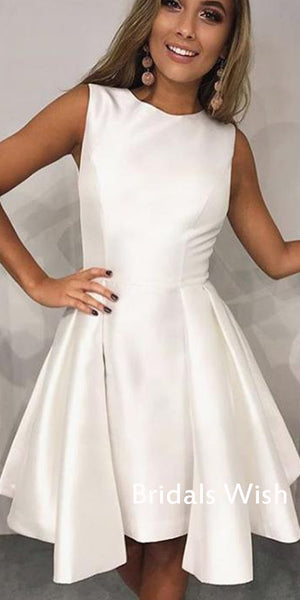 Popular Bateau Satin Homecoming Dress ,Short Homecoming Dress EW0229