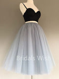 Pretty Two Pieces Spaghetti Strap Sweet Heart Short Homecoming Dresses, BW0034