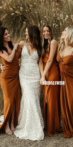 Mismatched Sleeveless Jersey Stunning Floor-length Bridesmaid Dresses, BW3819