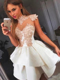Popular A-line Applique Sleeveless Homecoming Dress, BW3887