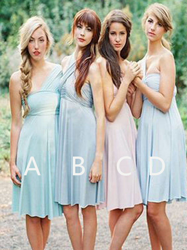 Cheap One Shoulder Short Bridesmaid Dresses, BW0158