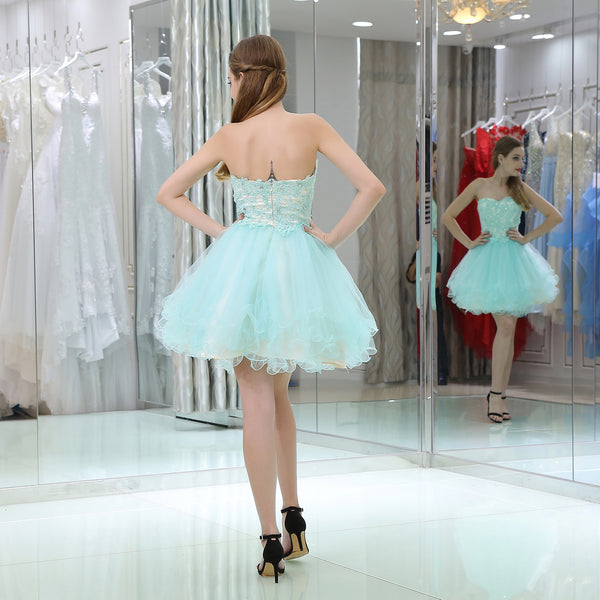 Beautiful Lace Tulle A-line Sweetheart Homecoming Dress EW0202