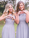 Simple One Shoulder Cheap Long Bridesmaid Dresses, BW0169