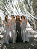Pretty V-Neck & Sweet Heart & Halter & One Shoulder Long Bridesmaid Dresses , BW0418